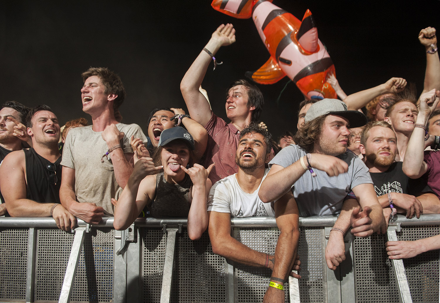 Waiting to celebrate the New Year, Falls Festival 2015 - image courtesy of Kirsty Umback.