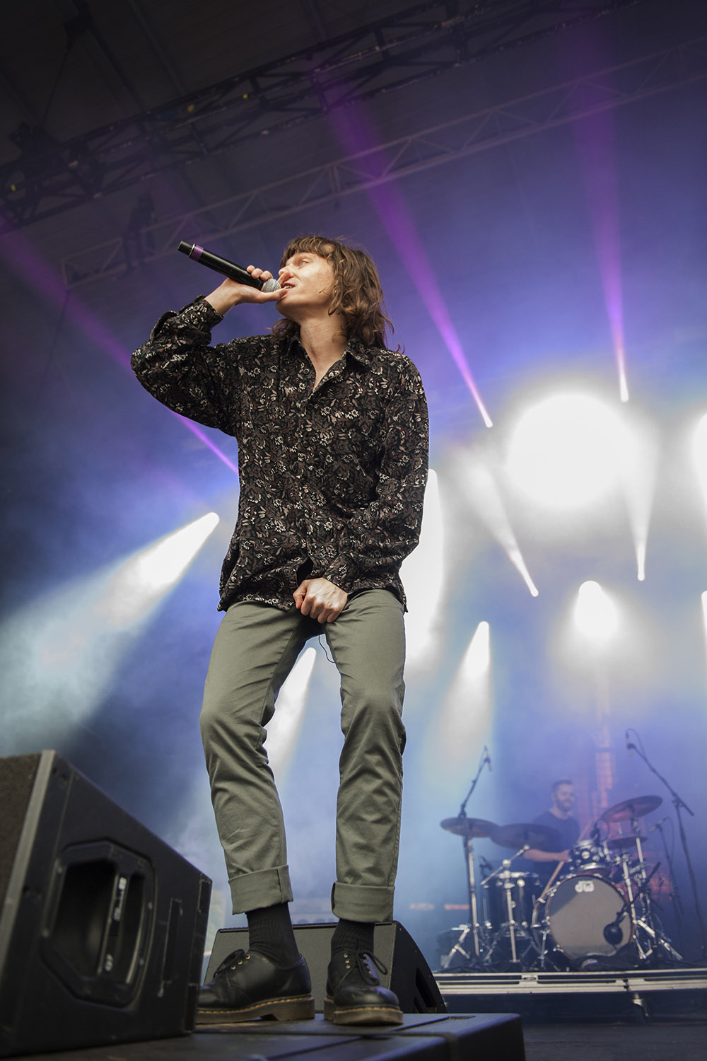 Rapper Allday performs at the 25th annual Falls Music and Arts Festival in Lorne. Image: Kirsty Umback.