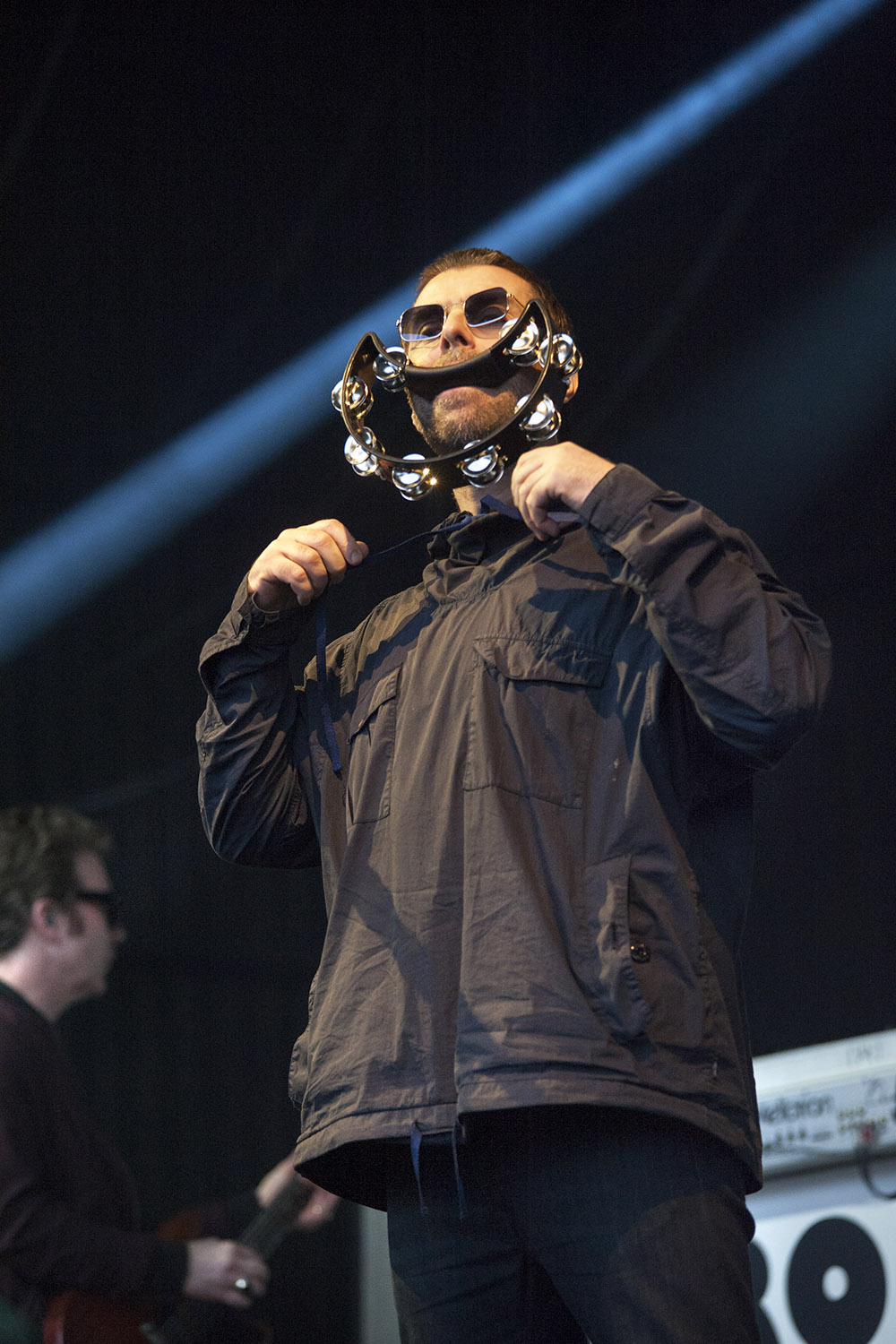 Liam Gallagher performs on his first 'solo' tour of Australia, at the 25th annual Falls Music and Arts Festival in Lorne. Image: Kirsty Umback.