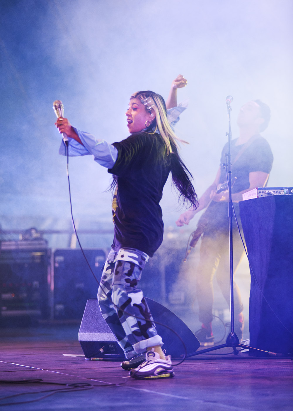 Ecca Vandal performs at the 25th annual Falls Music and Arts Festival in Lorne. Image: Kirsty Umback.