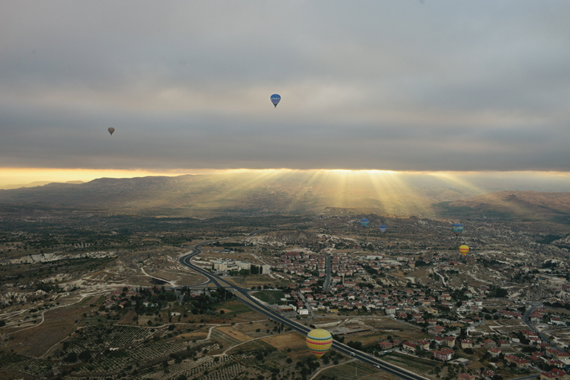 I turned off my alarm and nearly missed my early morning hot air balloon ride in Cappadoccia, Turkey. Good thing the driver banged on every door to see where I was!