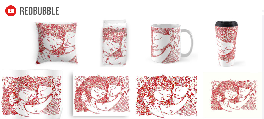 These are some of the items son RedBubble .... I have posted the entire LOVE Collection: I love You One, I Love You Two, I love You Three and I Love You Four
