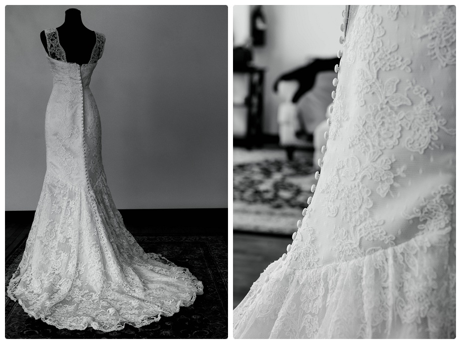 This gown was my favorite ( it was reminiscent to my own wedding gown), full buttons down the back complete the look