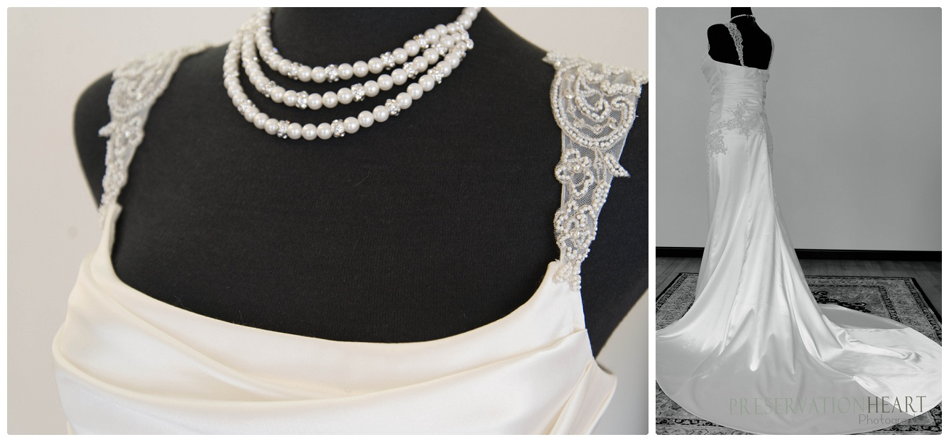 gorgeous lace details and satin that falls beautifully from the waist - this material was unbelievably soft and luxurious