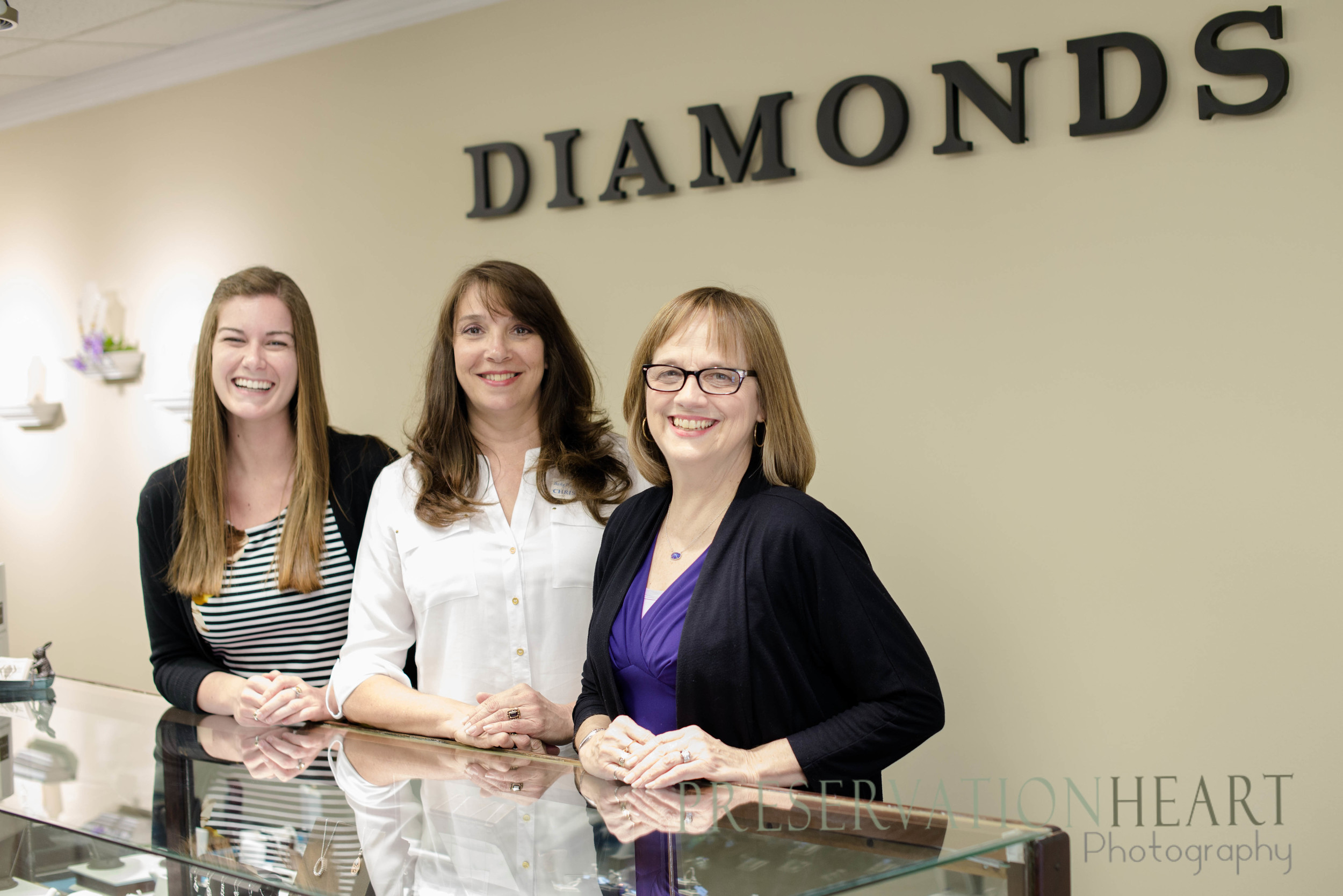 These ladies work hard and have a lot of fun helping each customer find just what they're looking for