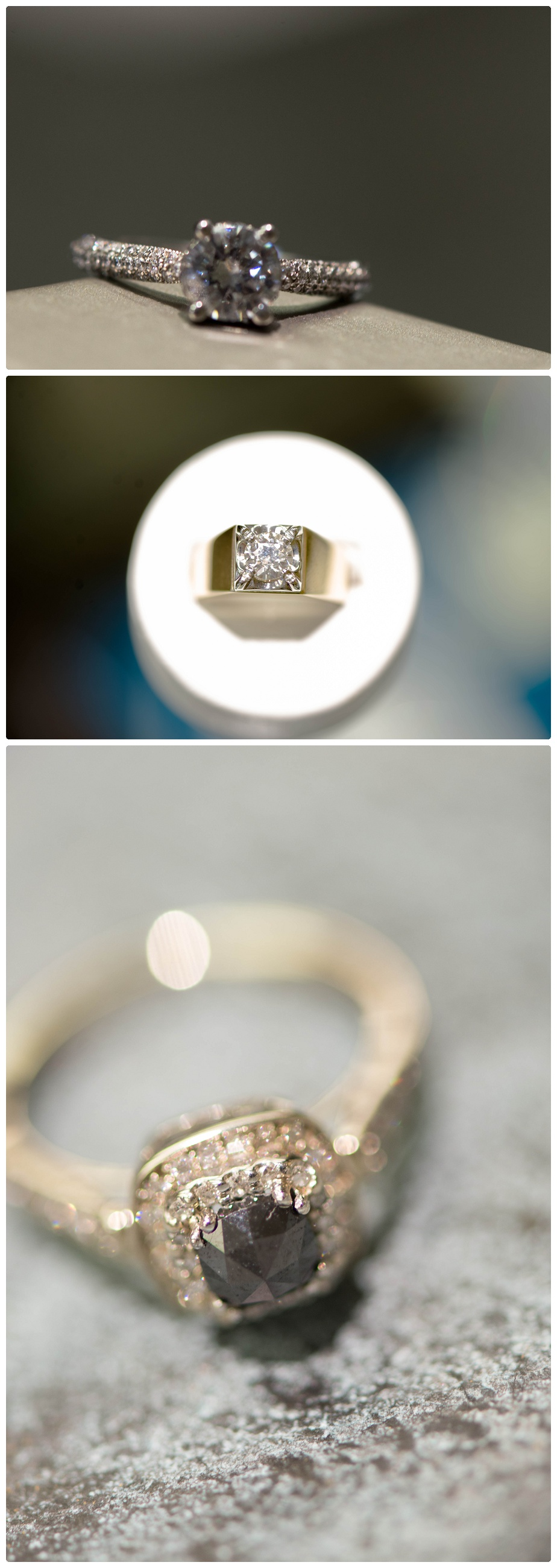 An unusual stone for a unique bride perhaps? This ring is gorgeous!