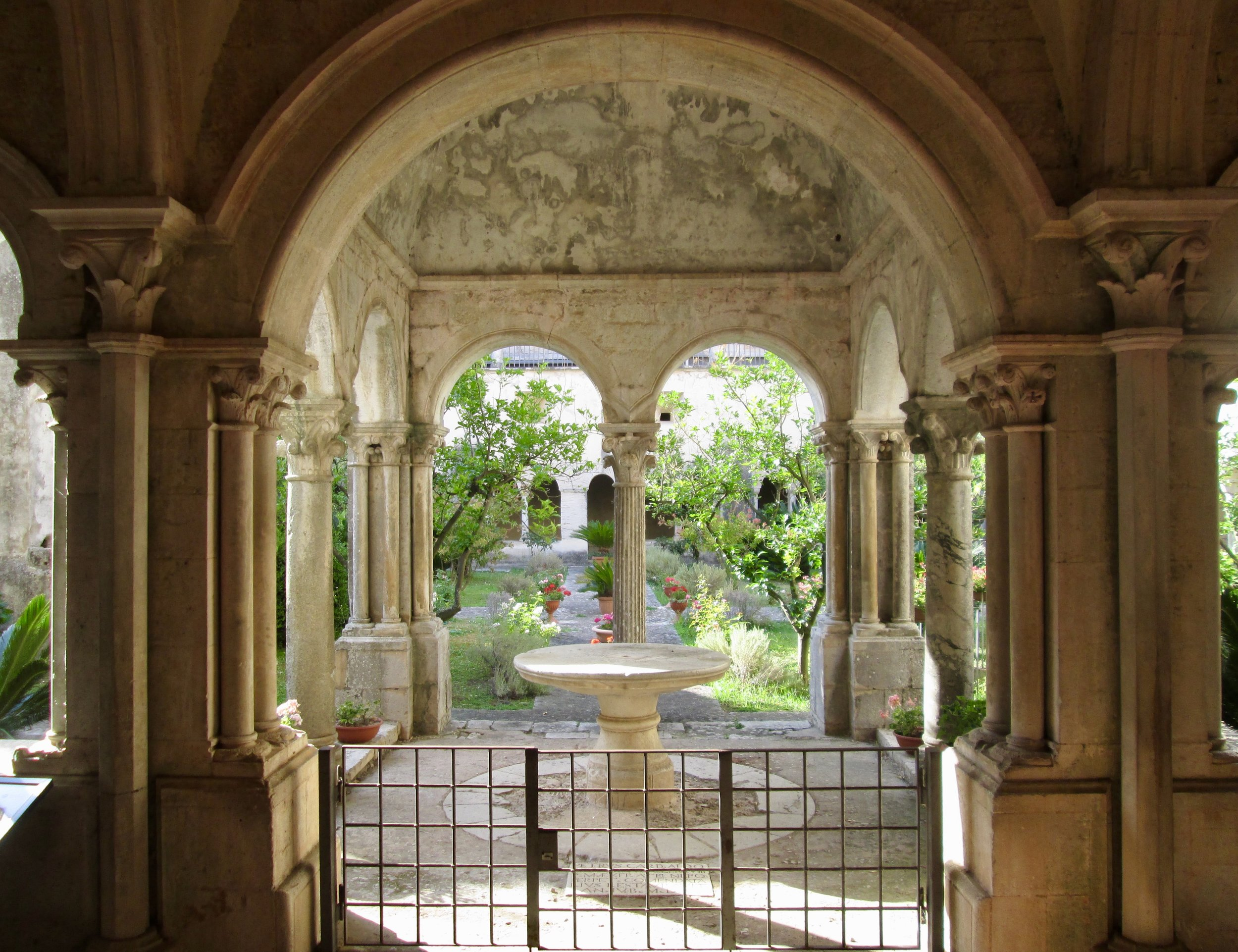 cloister garden in fossanova monastery Photo credit: daniel dikman