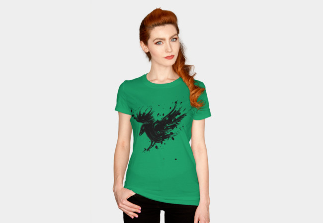 Magic Raven Women's Tee   Oh the secrets ravens keep. Where three or more flock, there you'll find a fissure between worlds. These opportunistic birds travel between dimensions, snatching bits of magic to bring back home.