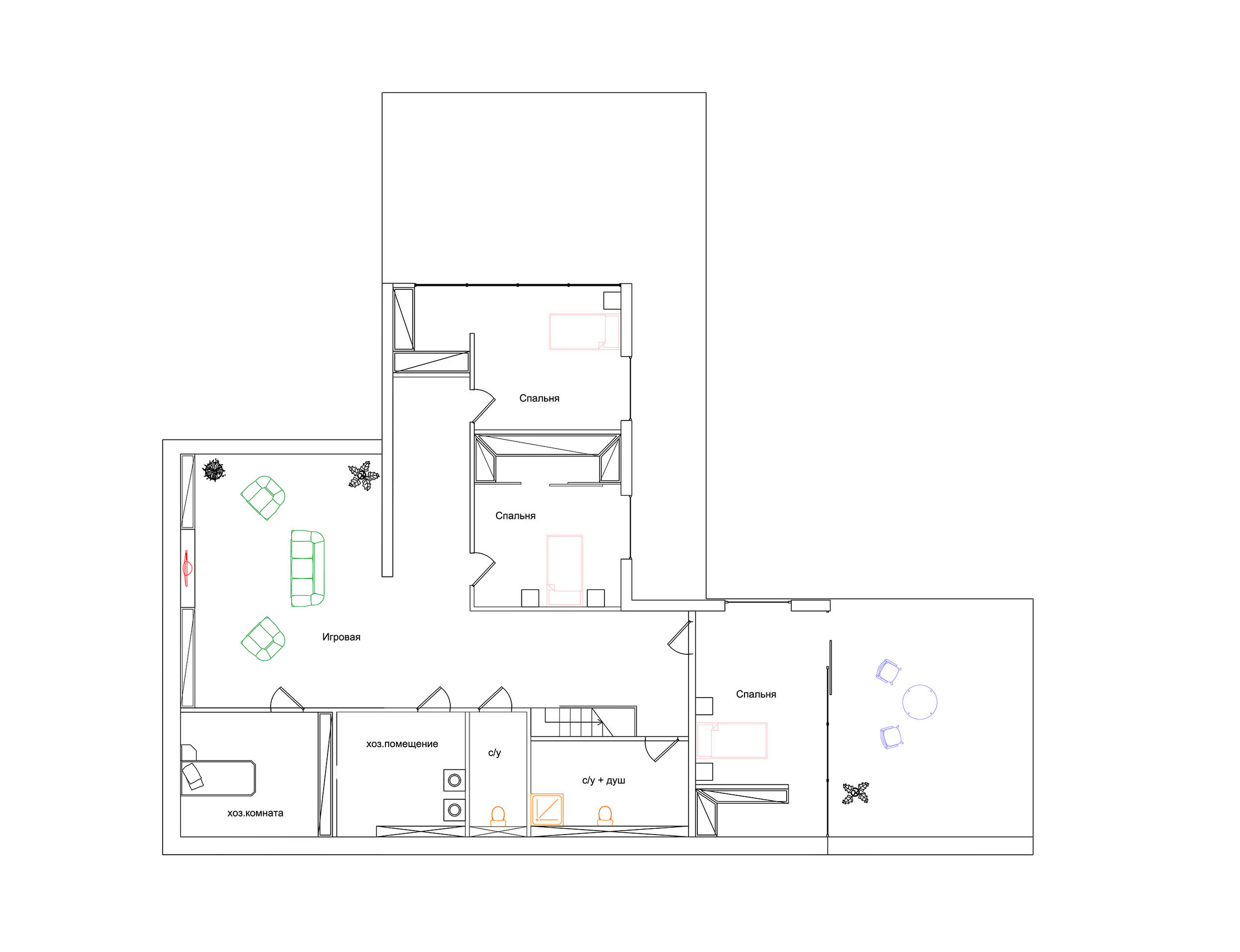 draw second floor