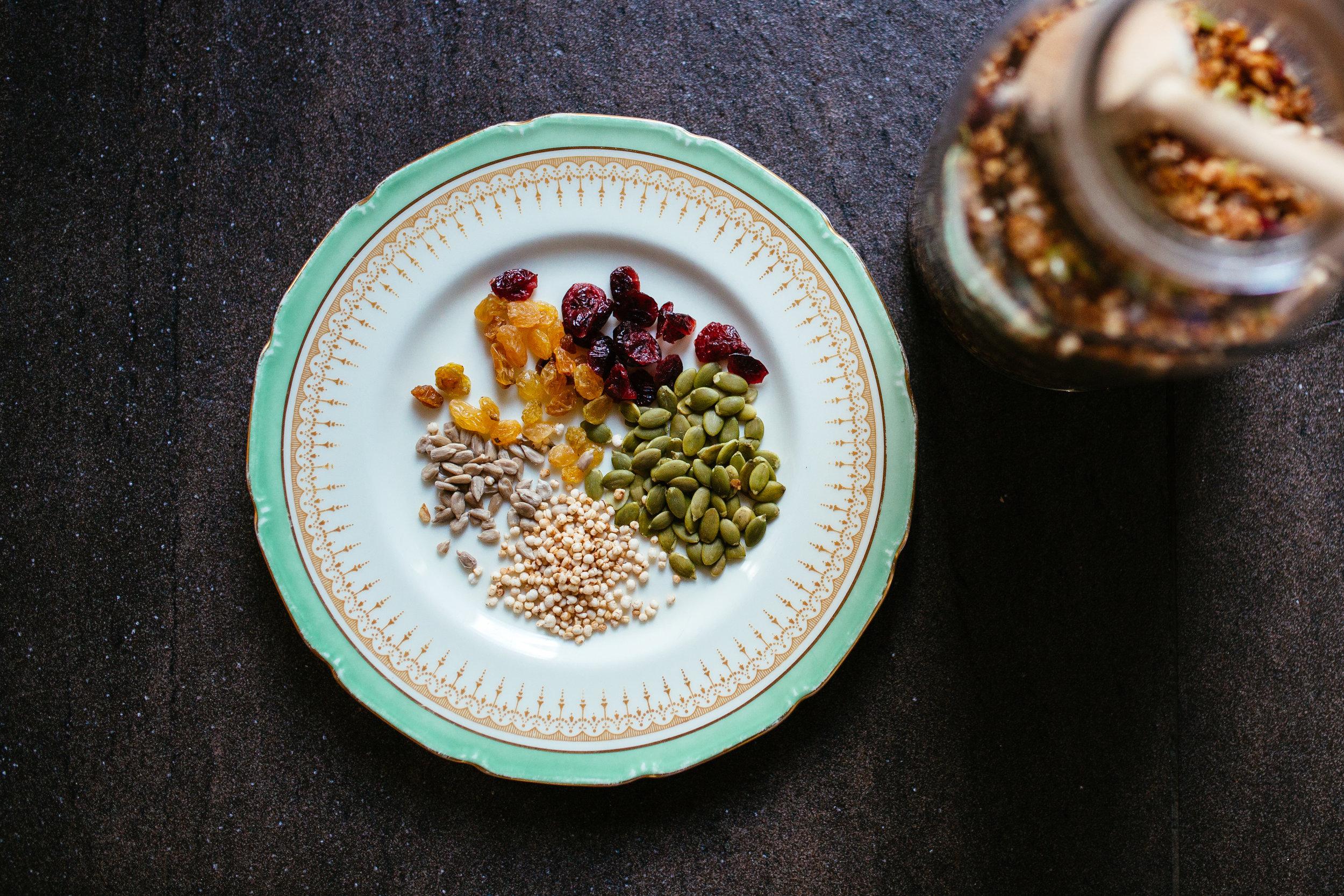 Ingrédients simples pour granola maison