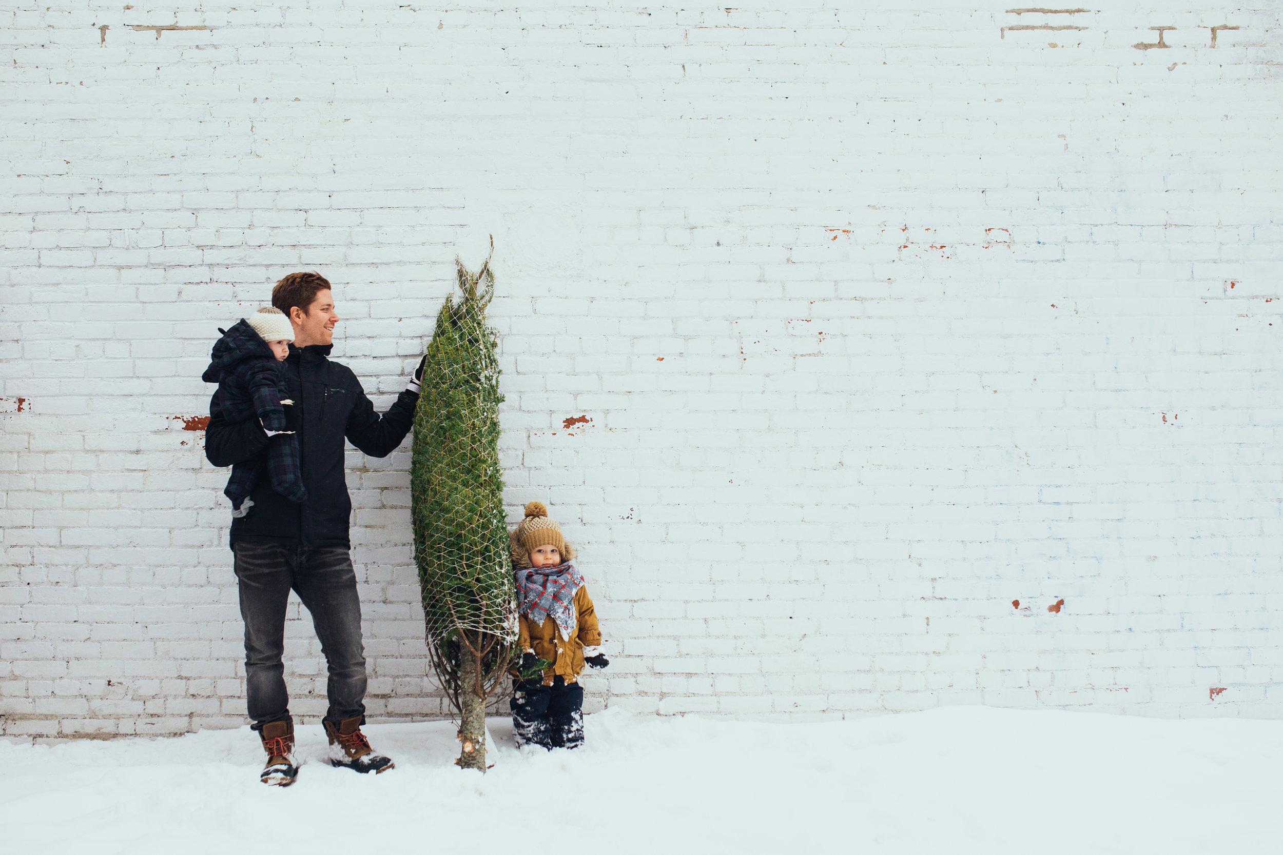 Notre photo traditionnelle de sapin de Noël (2014)