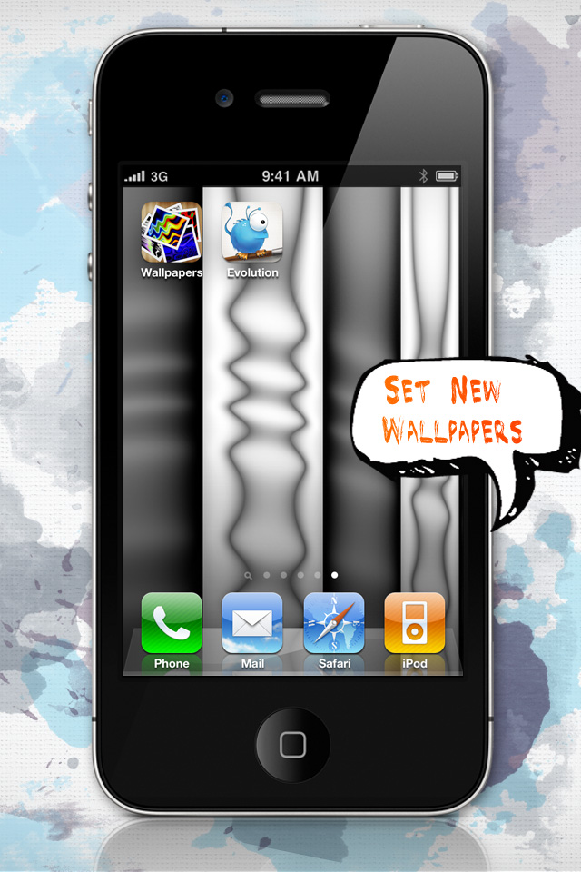 Wallpaper Evolution for iPhone 4