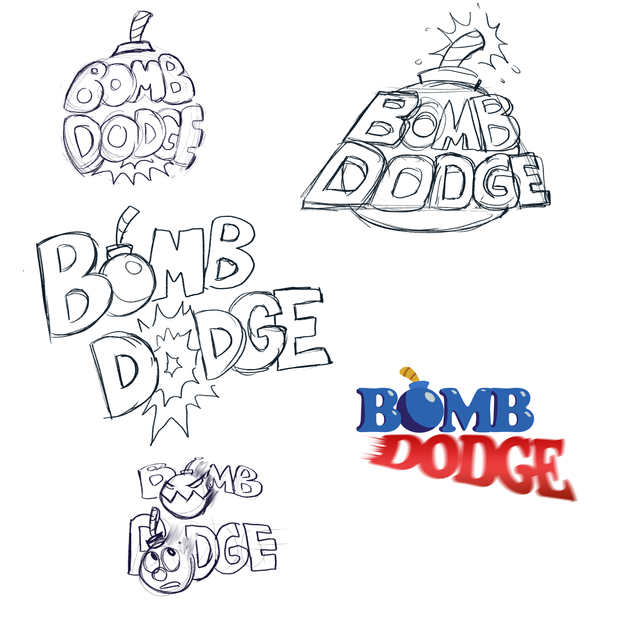 Bomb Dodge concept logos by  Andrea Dailey