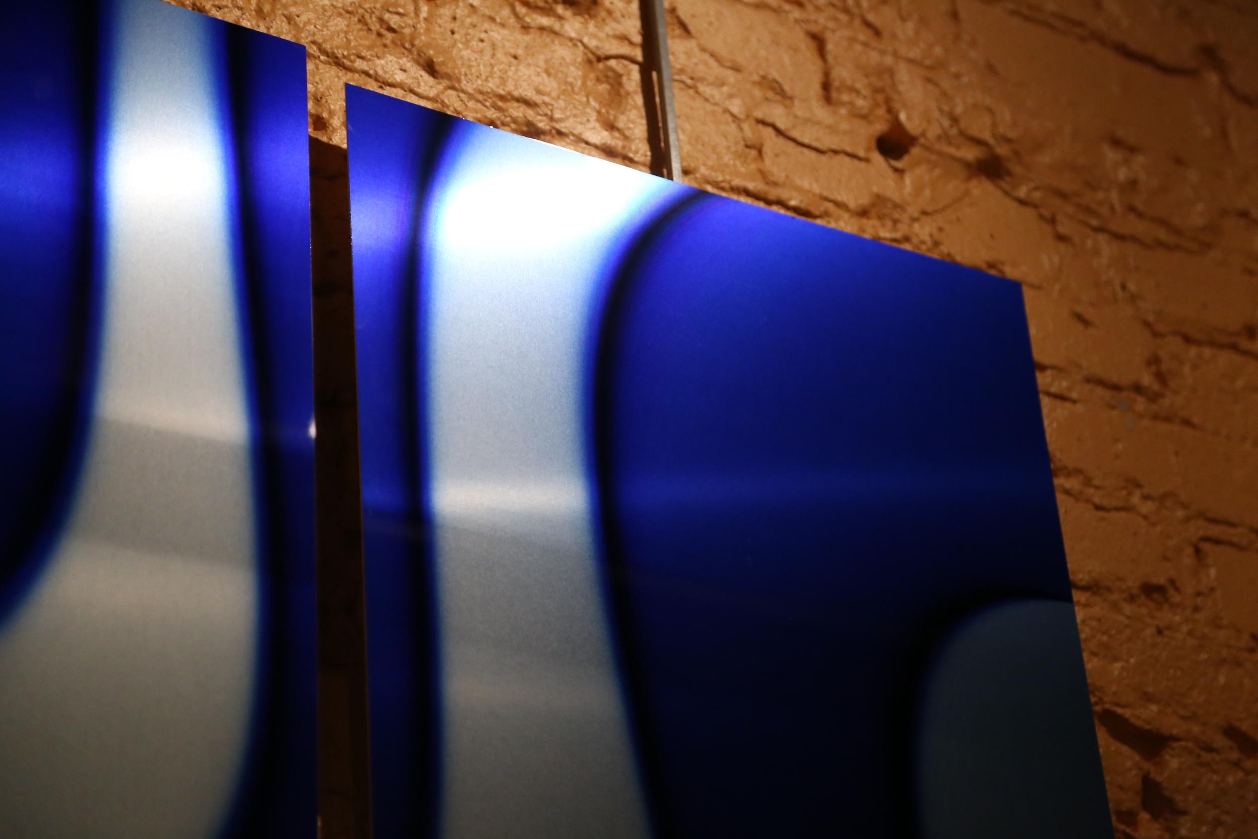 Blue Flames - Aluminum Closeup
