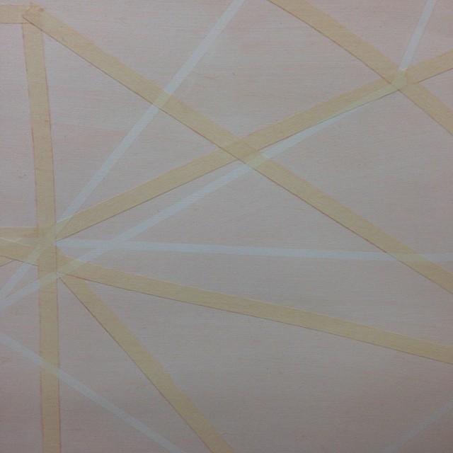"Take Away  12"" x 16"", oil, tape, gel medium, on canvas paper"