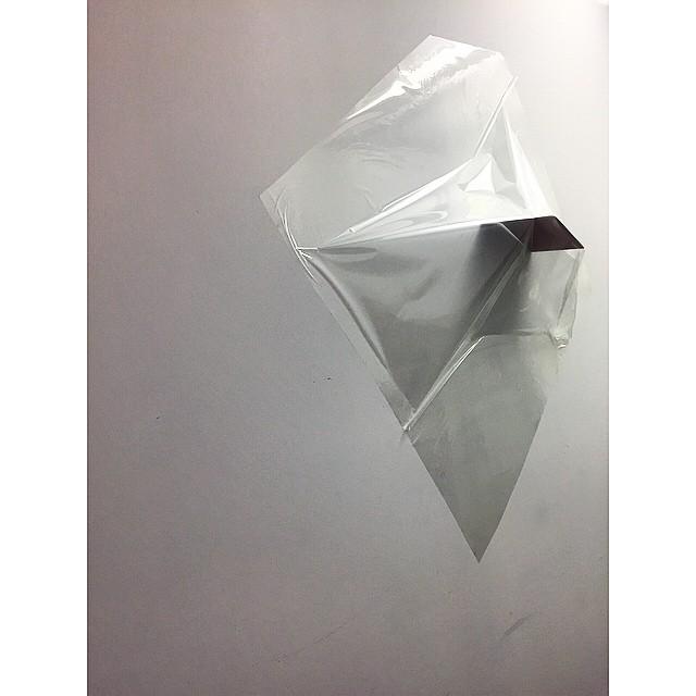 Transparent Dreamscape  Clear plastic, metal zink plate, irregular shape (4.5ft x 3.5 ft x. 5ft)