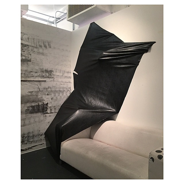 Consuming Dreamscape  Installation of Rag and Bone pleather (irregular shape: 8 ft x 6ft x 4.5ft)