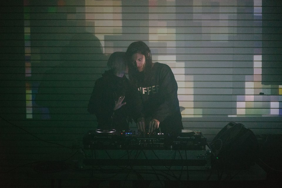 Zanias and Clay Adakazaam on set with Digital Projection by  K10