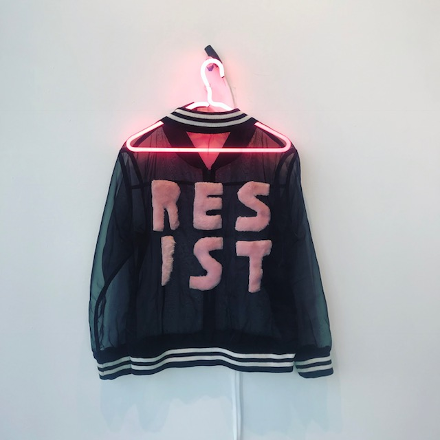 RESIST Neon Pink Hanger (Edition 2 of 10)