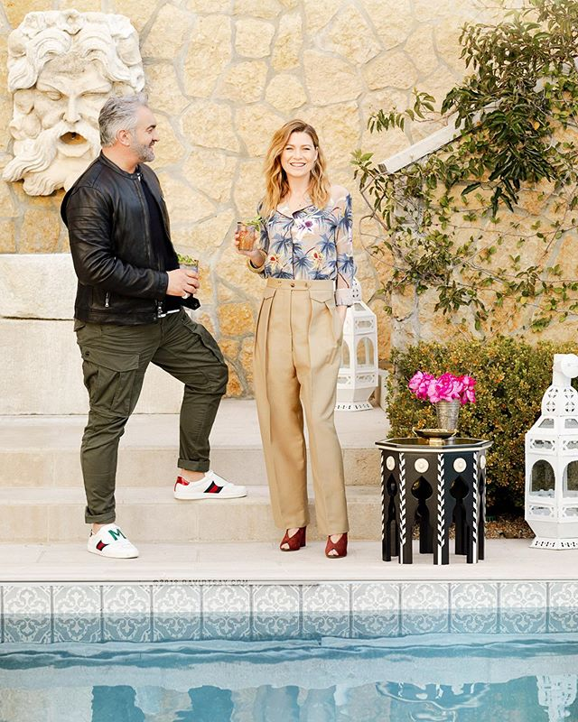Howbout a Moroccan Dinner Party by the Pool 📸 #newworkTsay x #EllenPompeo + #MartynLawrenceBullard for #VerandaMag 🌸 #outtakeTsay styled by @amykchin 😘