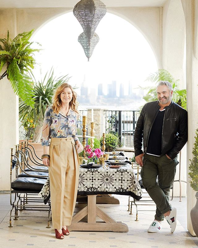 🌙Moroccan✨Soiree💫📸 #newworkTsay x #EllenPompeo & #MartynLawrenceBullard for #VerandaMag styled by @amychin 🌸 *these are also up under WEEKEND story on my (finally😬) #newWebsite
