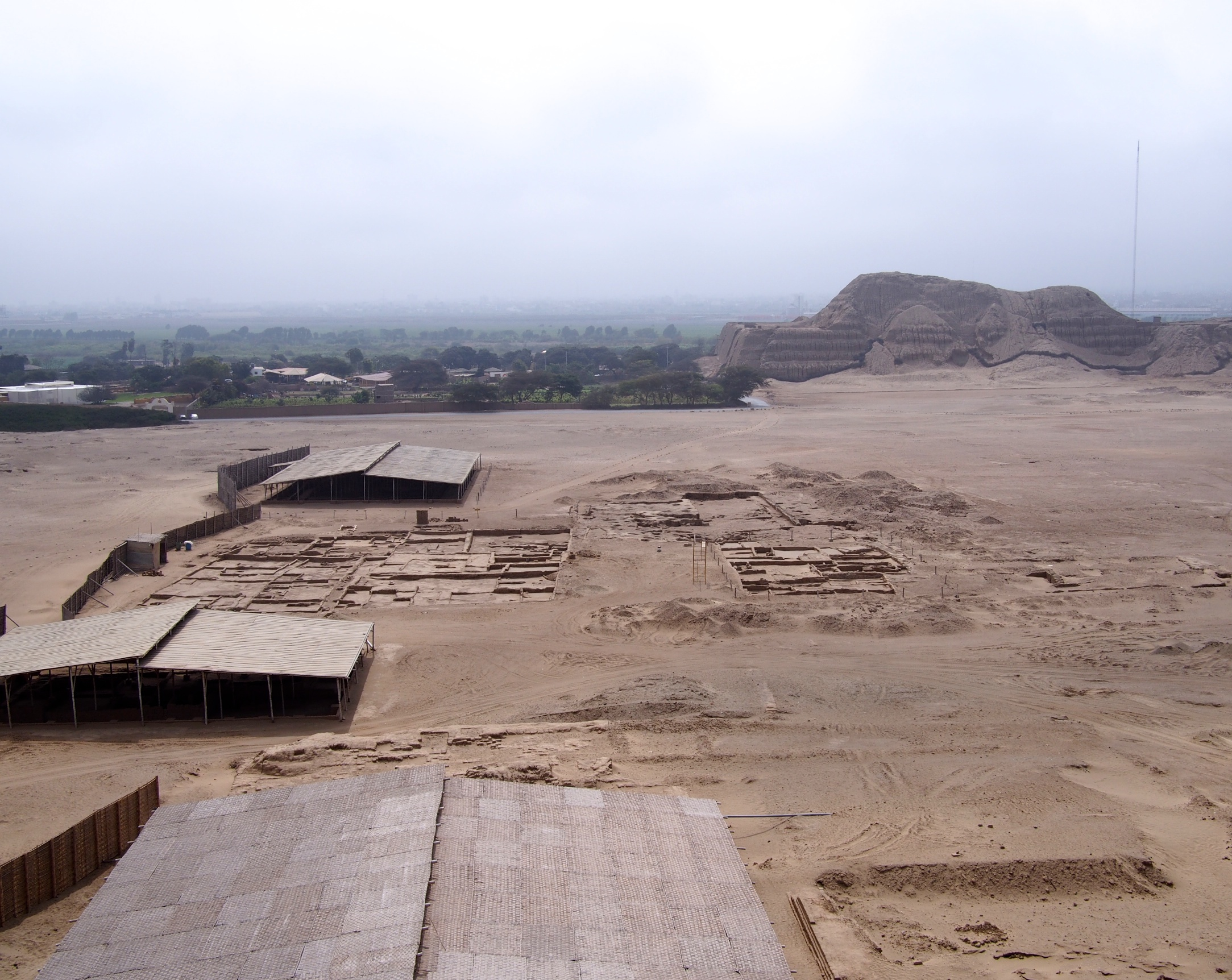 You can see where archeologists are currently digging out the city that once existed