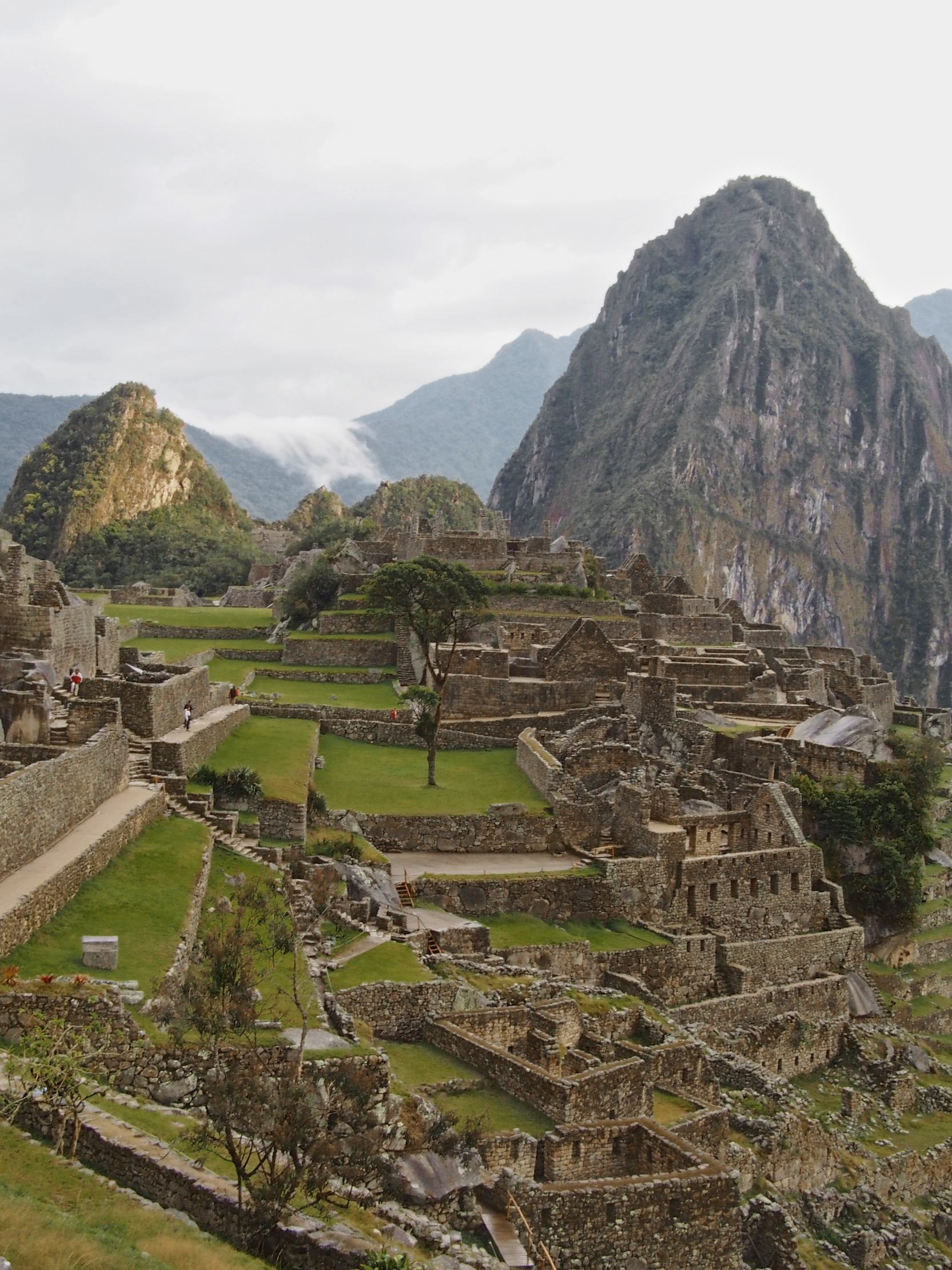First view of Machu Picchu once you arrive to the site