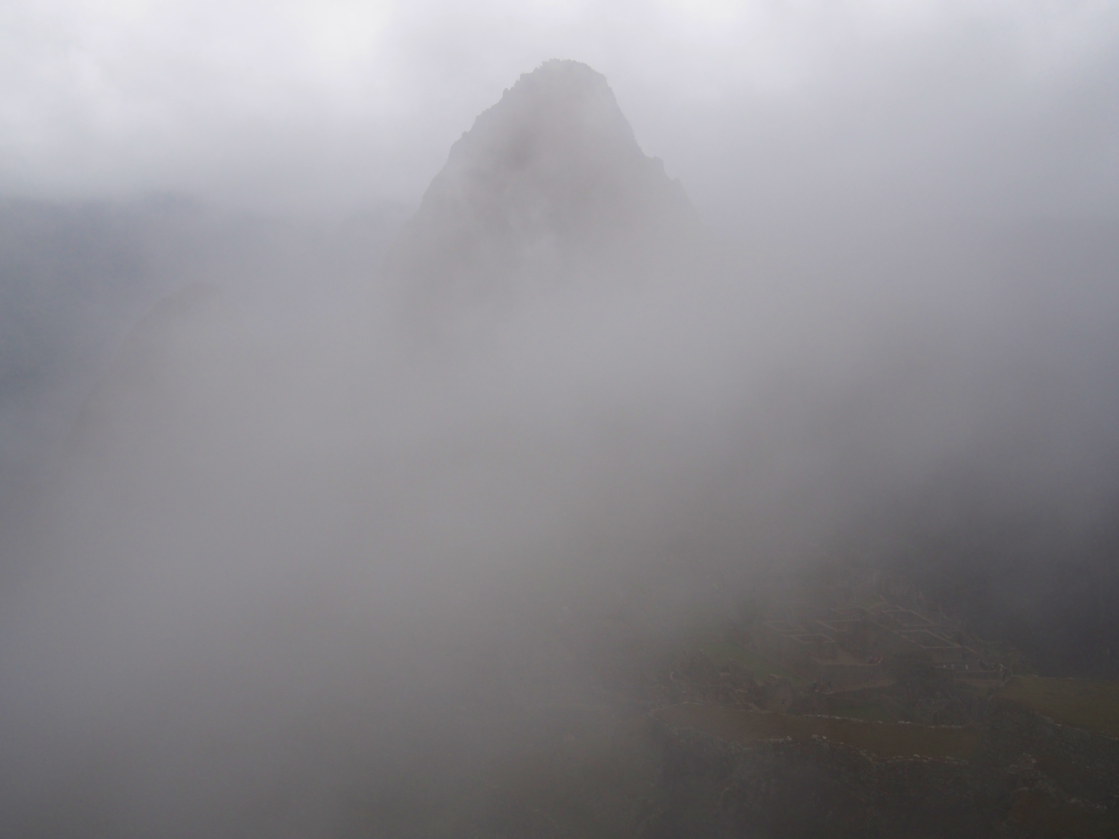 Although we were bummed it wasn't a clear day, we got to see Machu Picchu completely covered in fog, giving us a good understanding as to why the site went undiscovered for so long!