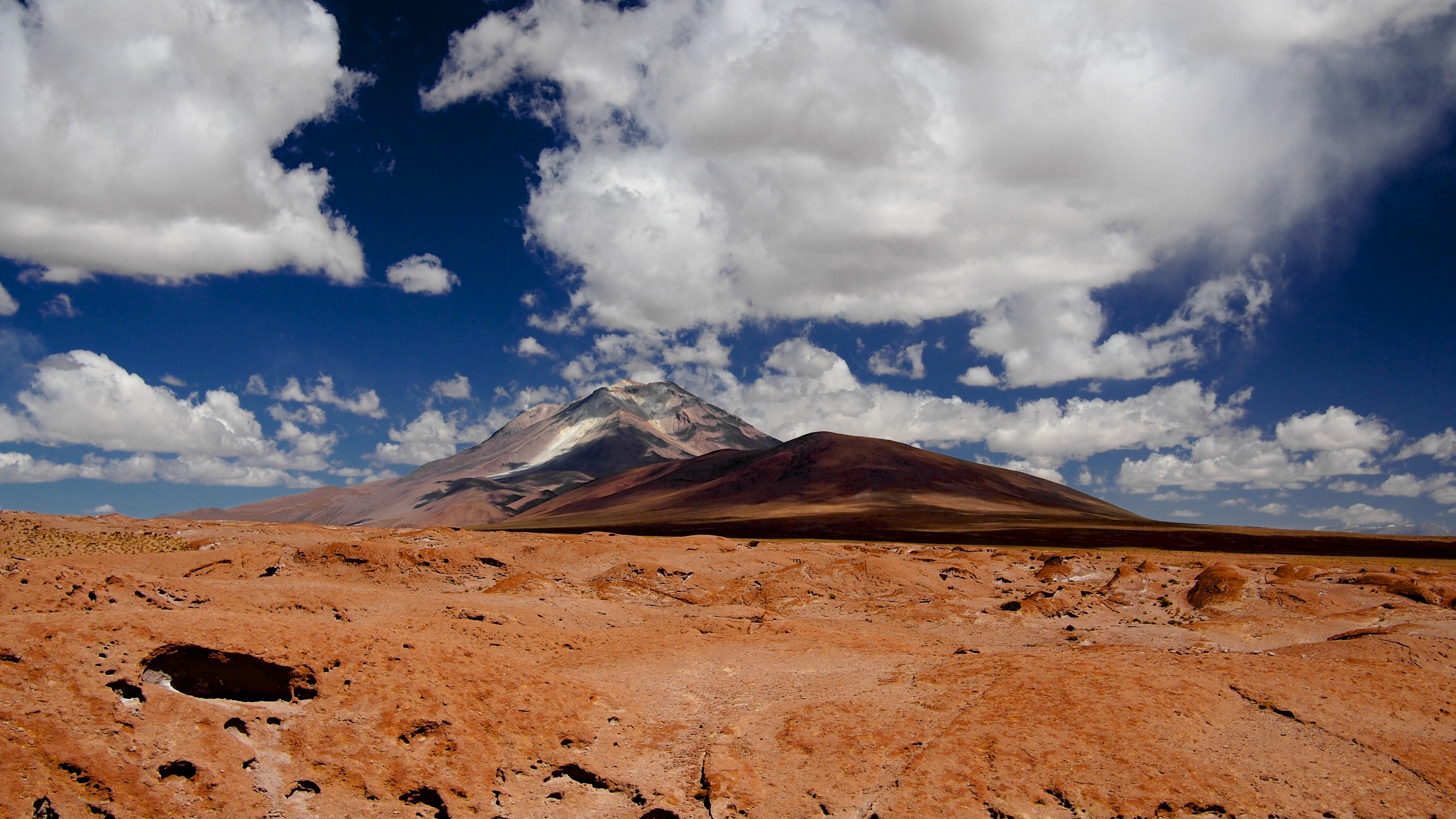 Ollague Volcano in Northern Chile, on the border with Bolivia