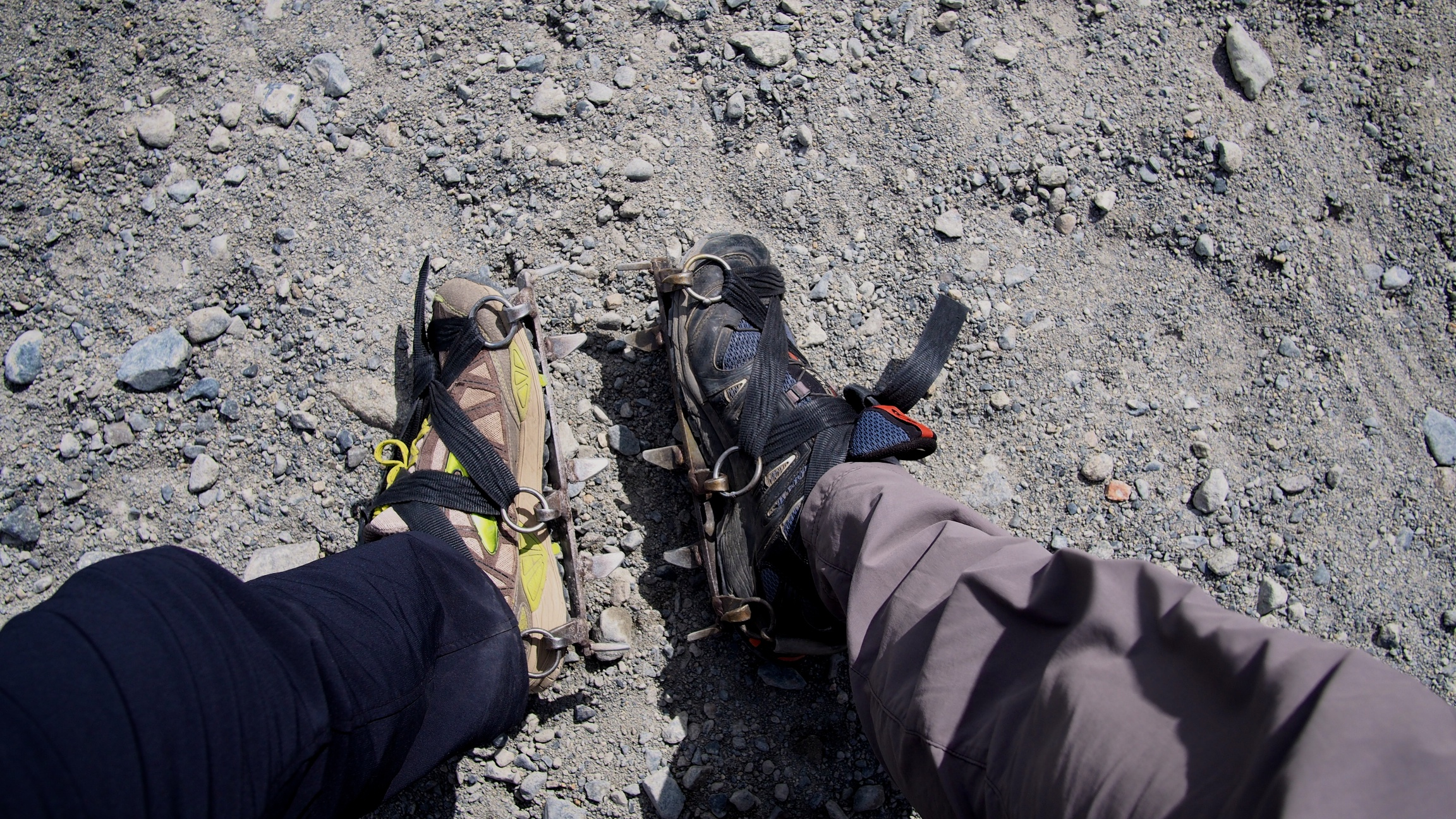 Staff put the crampons on for you to make sure they're on your feet properly