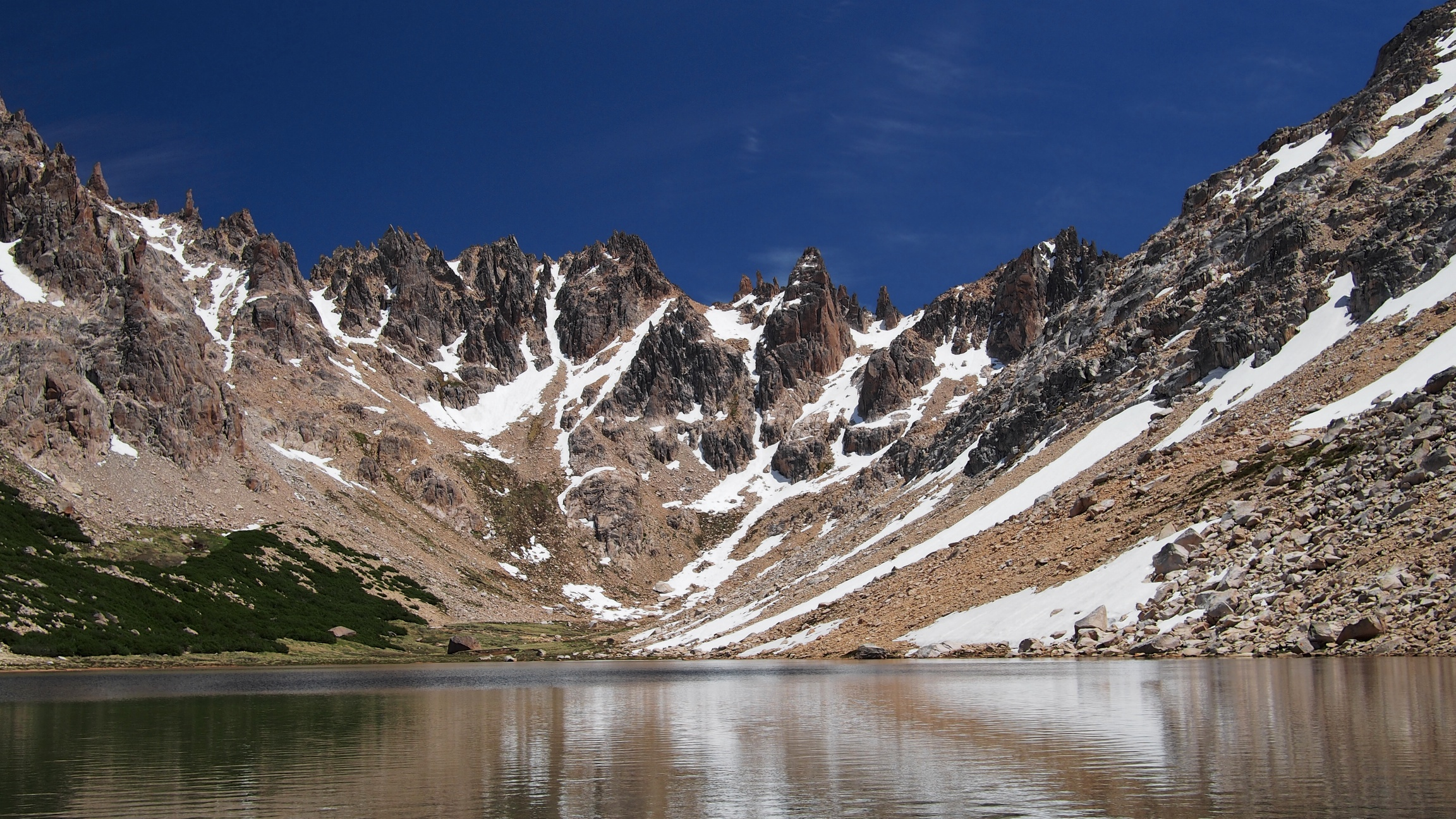 The majestic view once you arrive to Refugio Frey