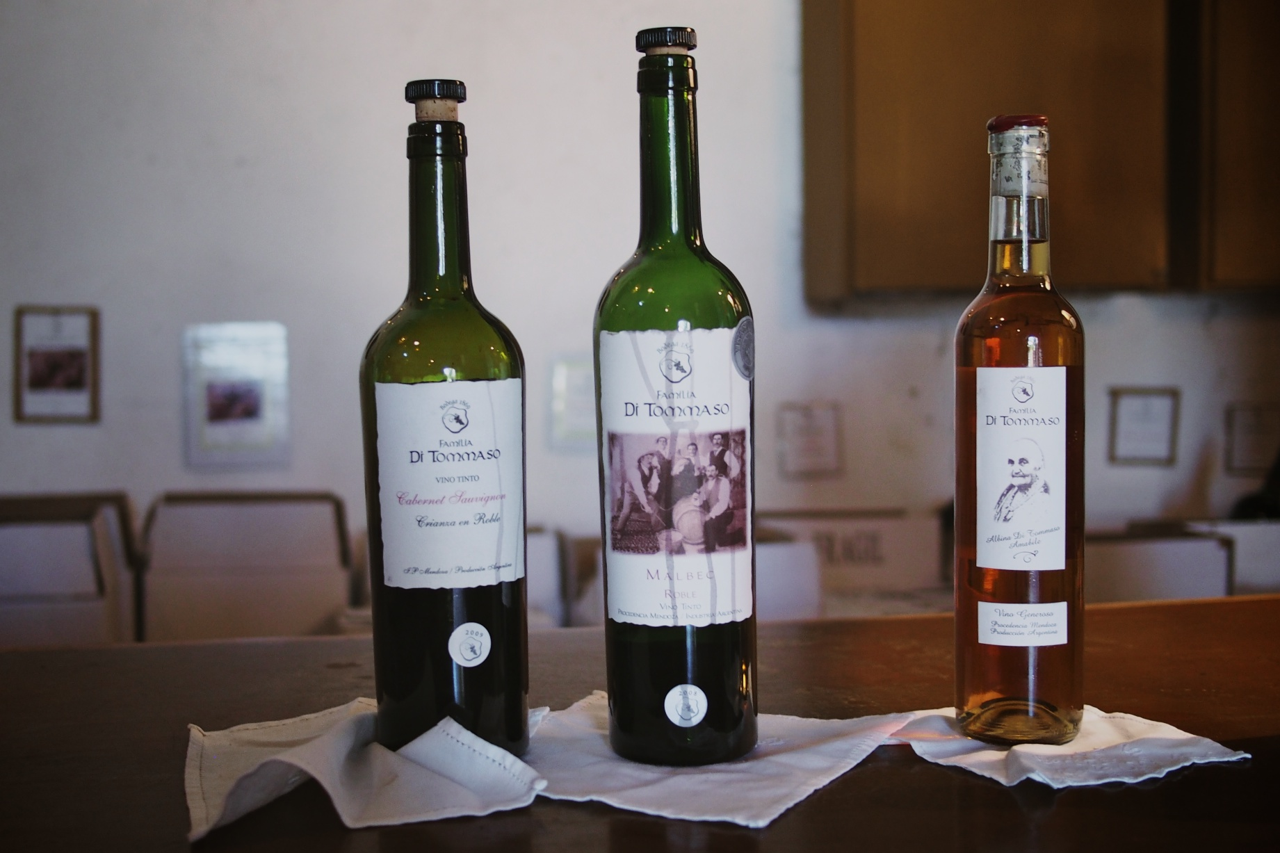 Three of the wines we sampled