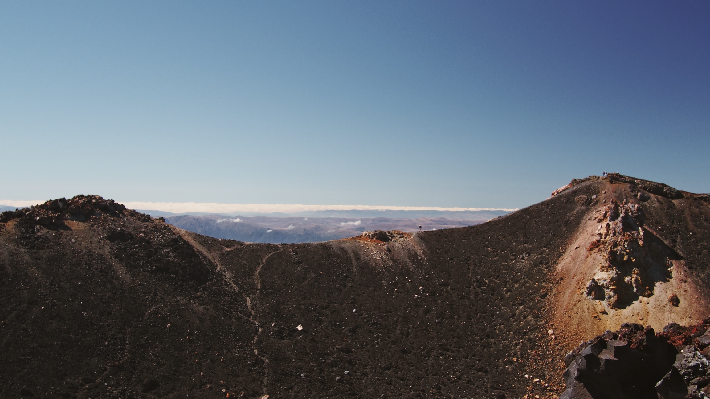You can actually trek around Mount Ngauruhoe once you reach the summit. Can you spot the lone hiker?