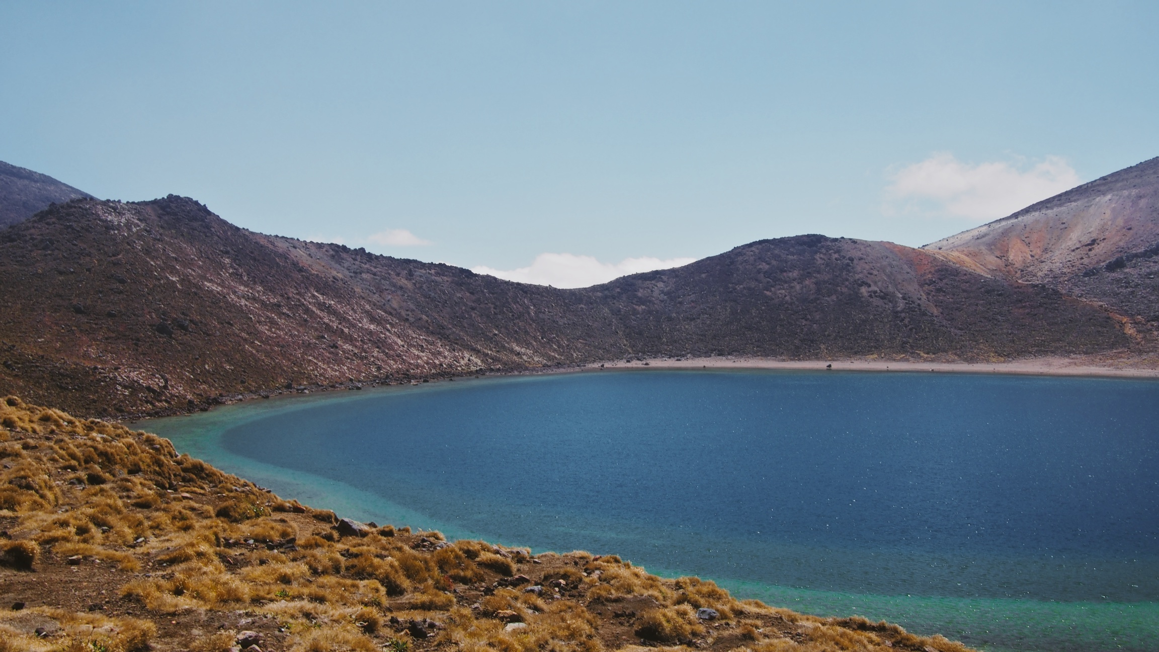 A close-up of the Blue Lake we saw from the summit of Mount Ngauruhoe.