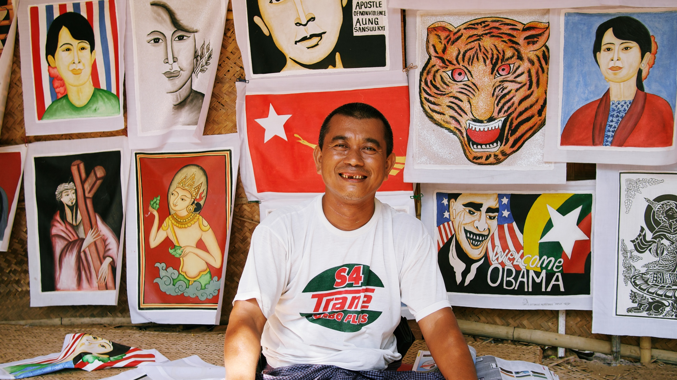 Our friend, Myint Aung, the artist
