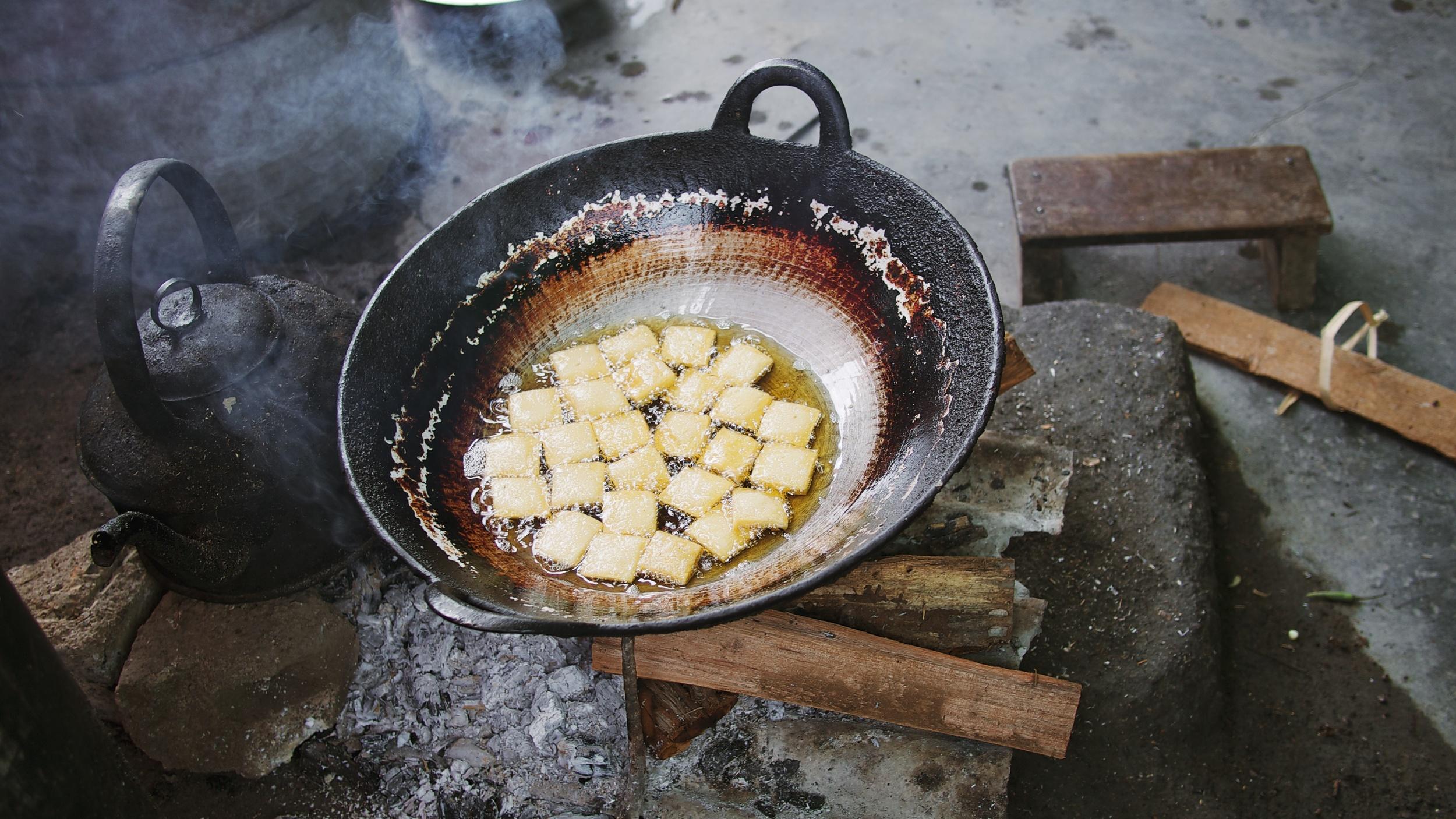 Fresh tofu at the market