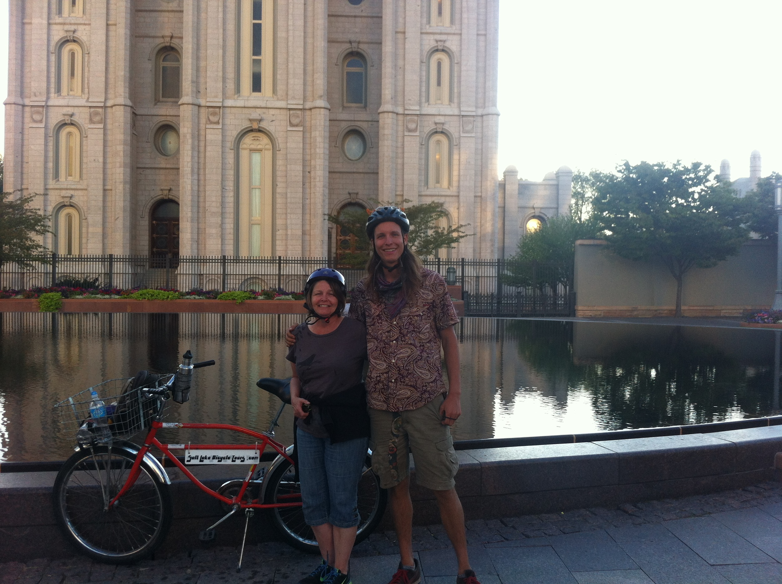 My Mom, Jac kie, and me on a Salt Lake Bicycle Tour