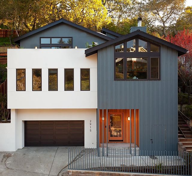 Thanks to integral color stucco and siding installed over a rain screen system, this house will never need the periodic paint and caulking that traditional houses require. #buildingscience