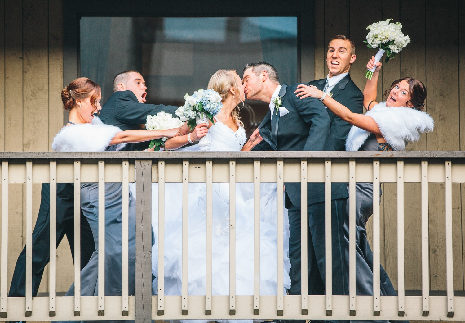 Apparently the bridal party were having second thoughts