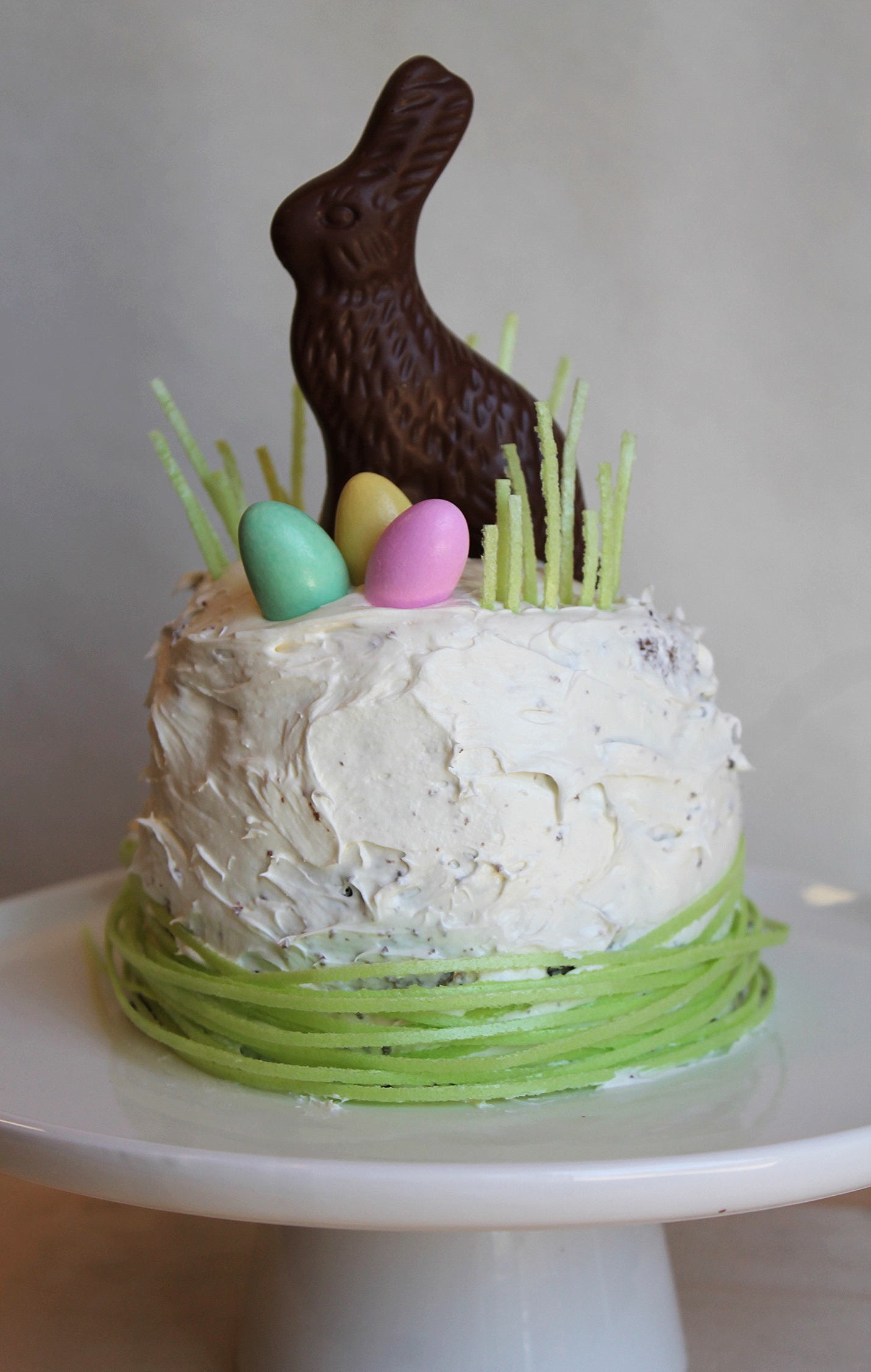 Homemade Mini Easter Bunny Cake.