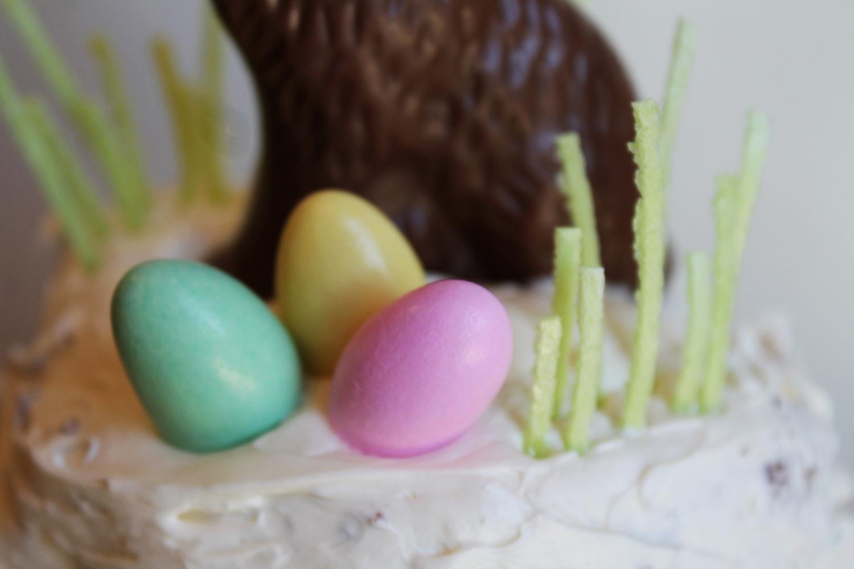 Homemade Mini Easter Bunny Cake.