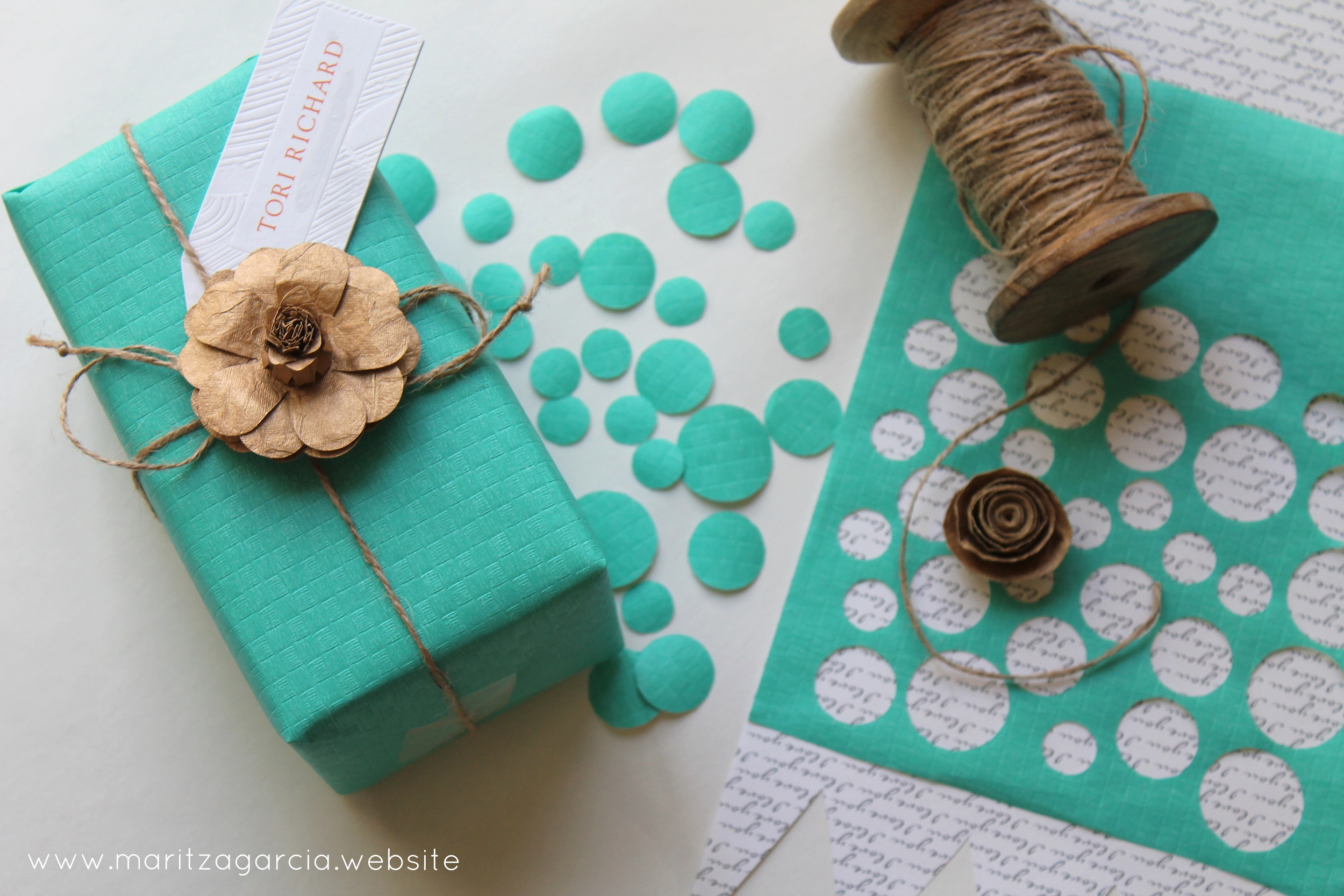 gift wrapping by Maritza Garcia.