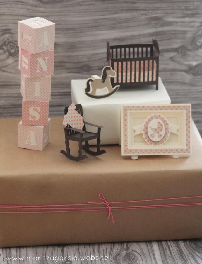 Baby Girl Nursery Gift Wrap | Maritza Garcia