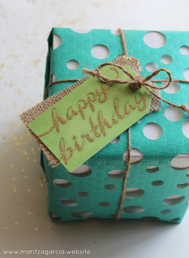 Swiss Cheese Happy Gift Wrap | Maritza Garcia