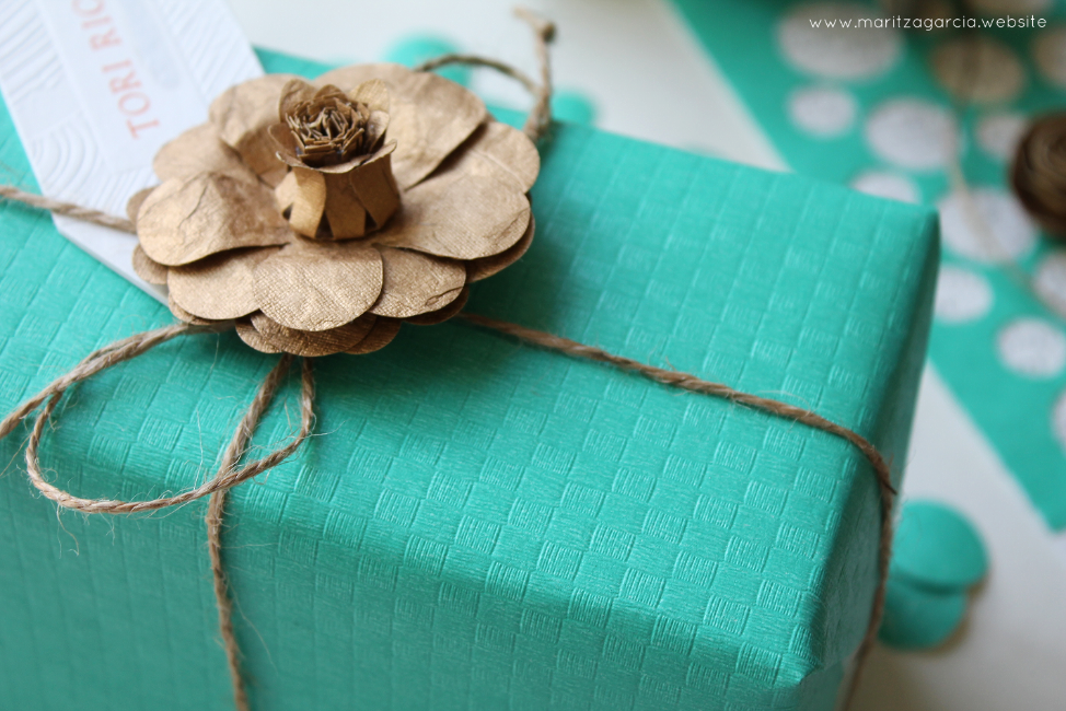 Teal and Gold Gift Wrap | Maritza Garcia