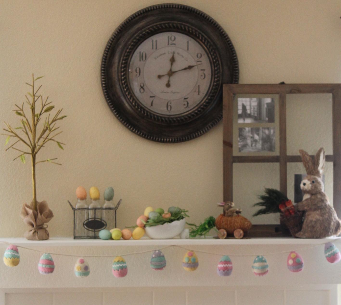 Maritza's Easter Mantel