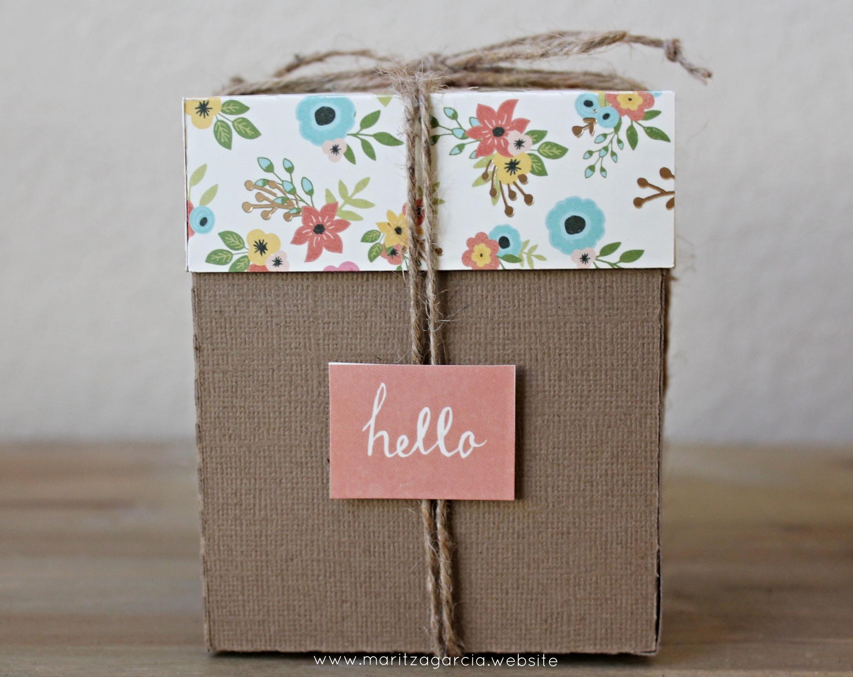 DIY- Small Gift Box with Lid via Maritza Garcia