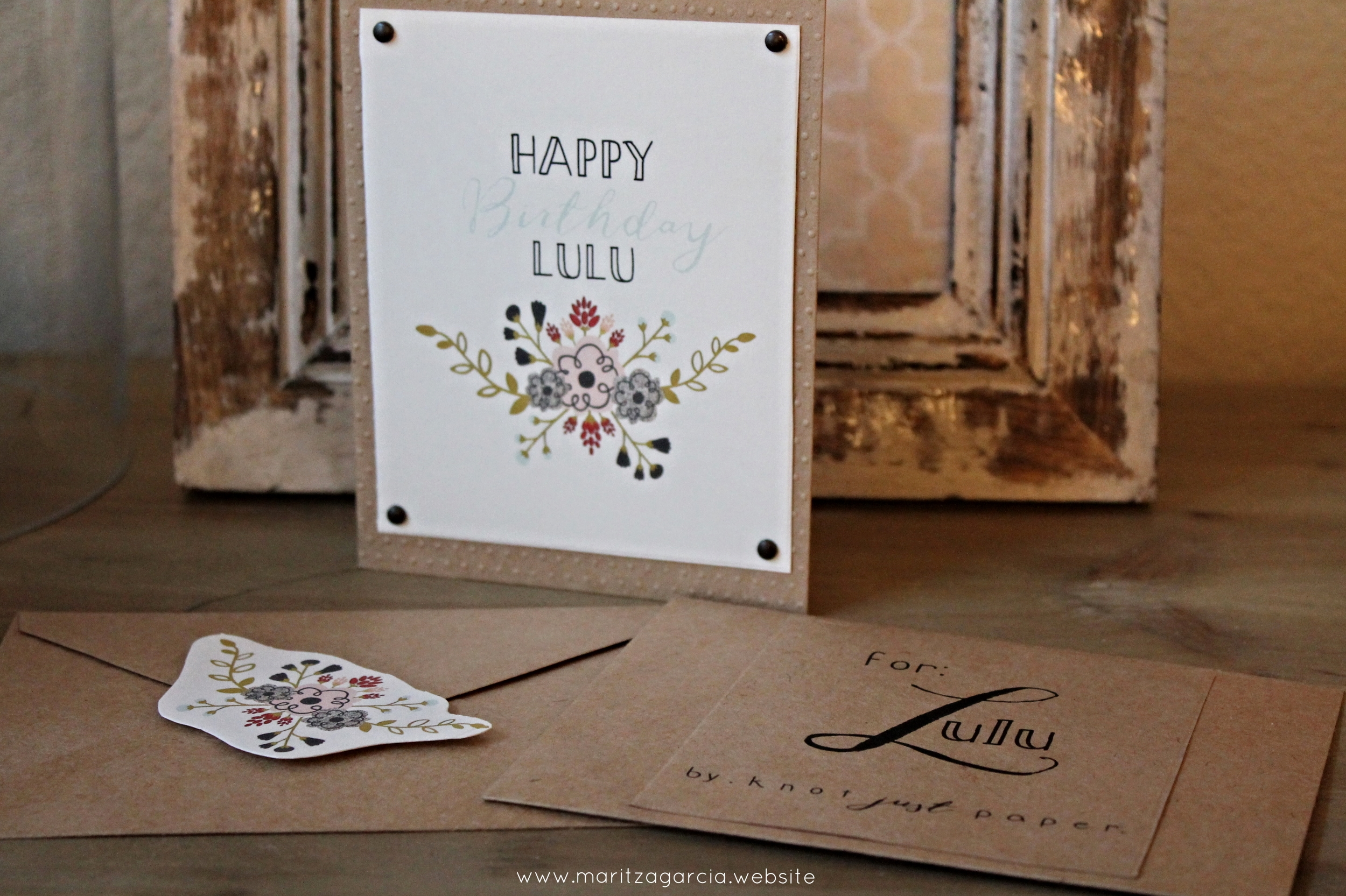 Personalized Floral Birthday Card by Maritza Garcia.