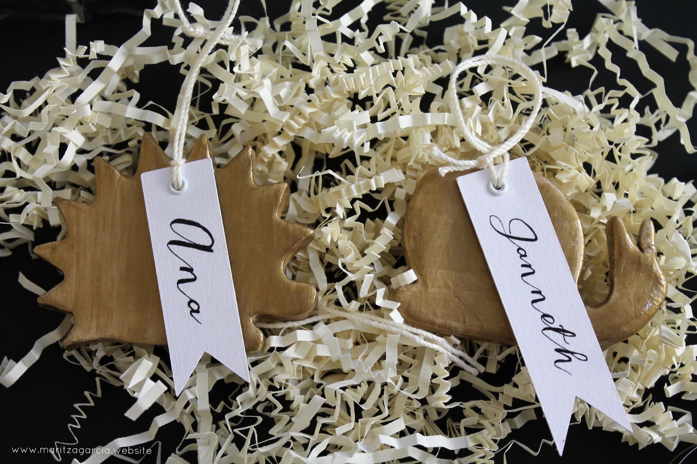 DIY -Clay Tags by Maritza Garcia.