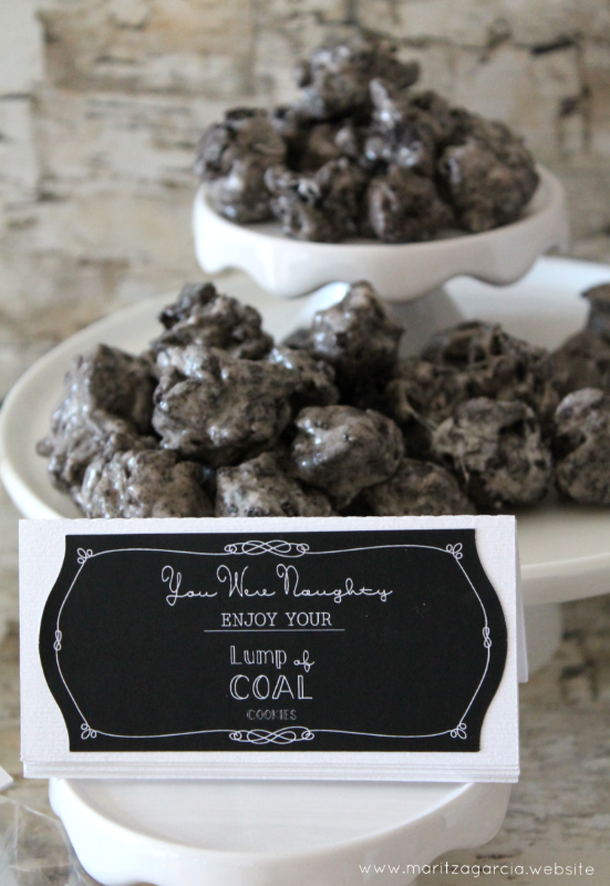 Lump of Coal Cookies via Maritza Garcia.